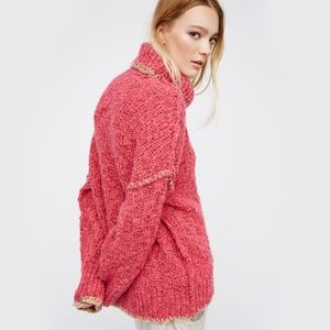 Free People Women's Pink Echo Pullover